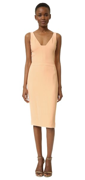 Narciso Rodriguez sleeveless dress in pale pink - A formfitting Narciso Rodriguez dress in a ladylike midi...