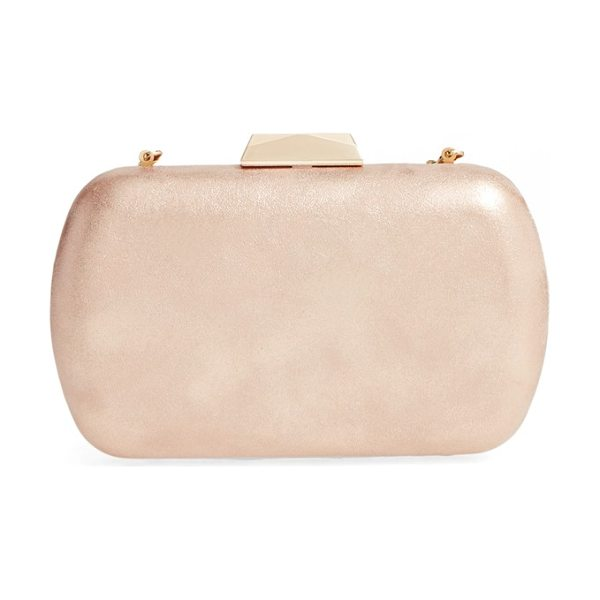 Natasha Couture metallic minaudiere in soft gold - Turn up the shimmer with a slim minaudiere featuring a...