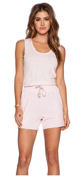NATION LTD Courtney romper - 100% cotton. Keyhole back with button closure. Smocked...