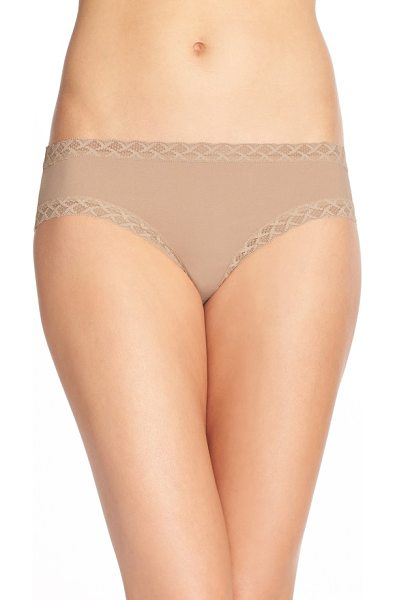 Natori bliss cotton girl briefs in brown
