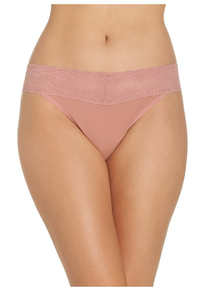 Natori bliss perfection thong in pink