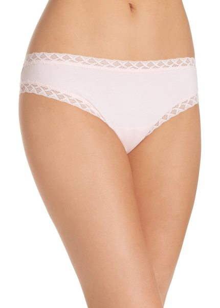 NATORI bliss tanga - An extra-soft knit adds everyday ease to lace-trimmed...