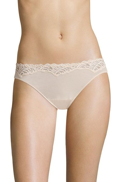 Natori Foundations feathers essence low-rise bikini panty in cameorose