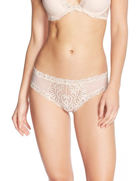 Natori feathers hipster briefs in cameo rose