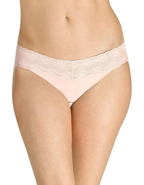 Natori Foundations bliss perfection one-size thong in cameo rose