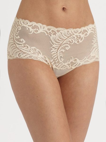 Natori Foundations feathers brief in cafe - Sits higher on hips and features a pretty feather mesh...