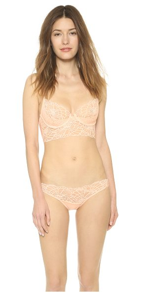 Natori Josie  bardot underwire bra in creamsicle - Scalloped lace and mesh compose this underwire Natori...