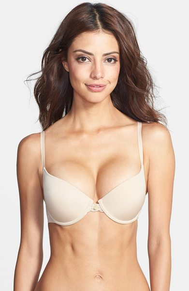 Natori 'pure luxe' push-up bra in cafe