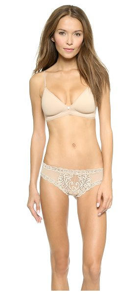 Natori understated contour wire free bra in cafe