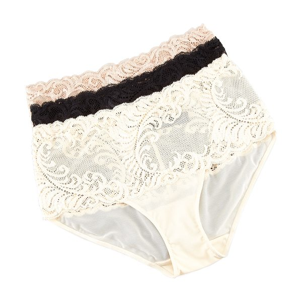 Natori Feather High-Waist Briefs in cafe (nude)