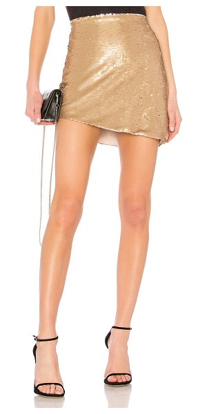 "NBD Angel Skirt in metallic gold - ""Enter your sweet escape in NBD's Angel Skirt. This..."