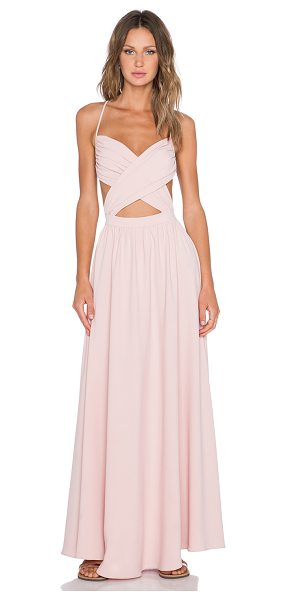 NBD Anytime maxi dress in pink - 100% poly. Unlined. Adjustable shoulder straps. Hidden...