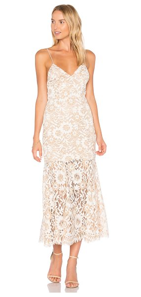 NBD Brielle Dress in cream - Let NBD give you a lesson in lace with the Brielle Gown....