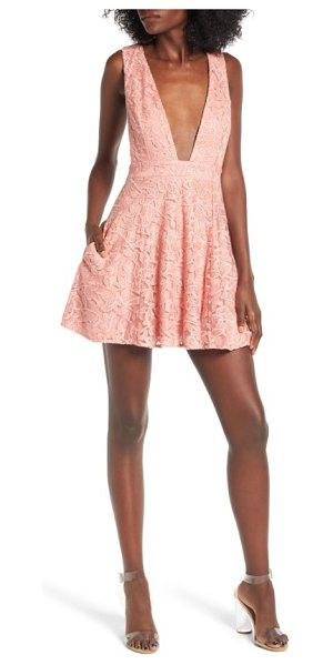 NBD faith lace dress in salmon - Keep your look fresh and modern with a lacy dress...