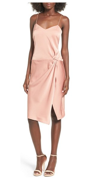 NBD georgia slipdress in blushed nude - A lustrous slipdress with slender straps is styled with...
