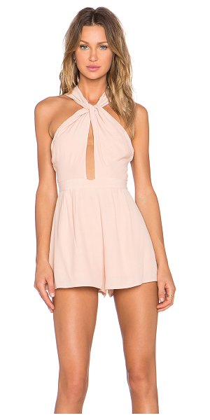 NBD Got me twisted romper in blush - Shell: 57% viscose 43% rayonLining: 97% poly 3%...