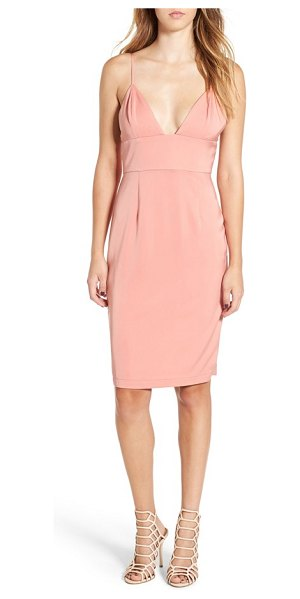 NBD heatwave empire waist sheath dress in champagne - Make sure all eyes are on you in a slinky sheath cut...