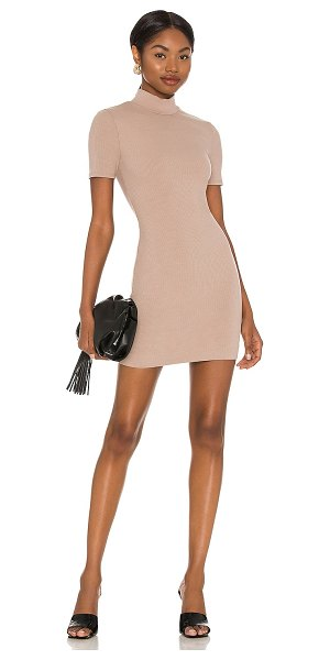 NBD marquis mini dress in taupe
