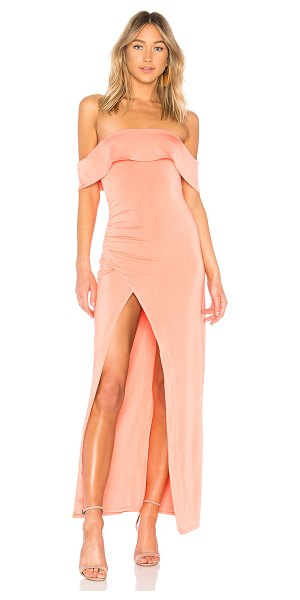 NBD Stella Rosa Gown in peach - 93% poly 7% elastane. Hand wash cold. Fully lined....