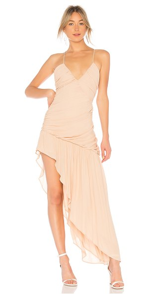 NBD Sweet Lies Gown in beige - Self: 100% polyLining: 94% poly 6% spandex. Dry clean...