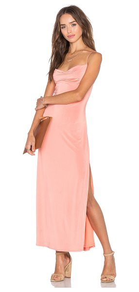 NBD The Senses Dress in peach - 94% poly 6% spandex. Hand wash cold. Fully lined. Front...