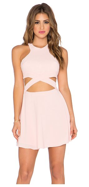NBD x Naven Twins Chromat Fit & Flare Dress in pink - Shell & Lining: 100% poly. Hand wash cold. Lined. Back...