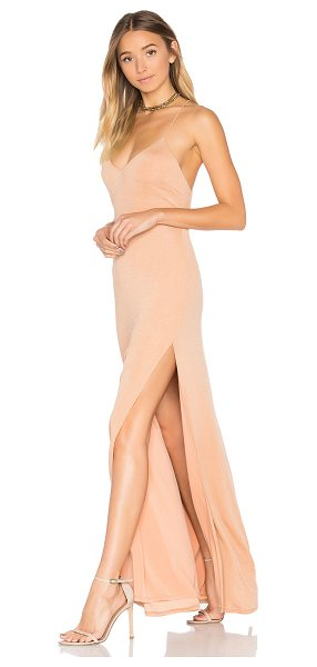 NBD x REVOLVE In The Deep Maxi Dress in tan - You can have it all with the In The Deep Dress from NBD....