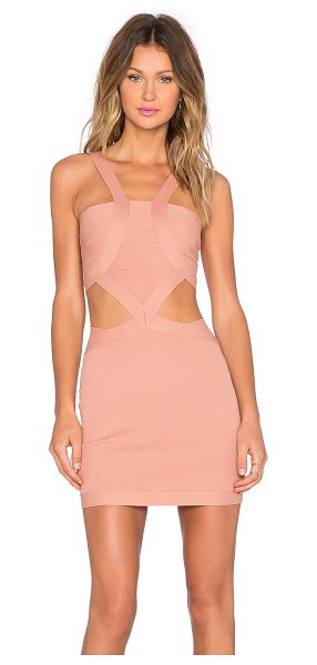 NBD x REVOLVE My Confessions Bodycon Dress in blush - 60% nylon 40% spandex. Dry clean only. Unlined. Back...
