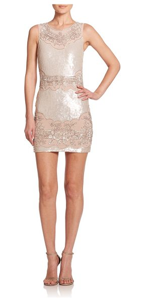 Needle & Thread Beaded sequin sheath dress in pastelpink - A sequined silhouette is perfectly complemented by...