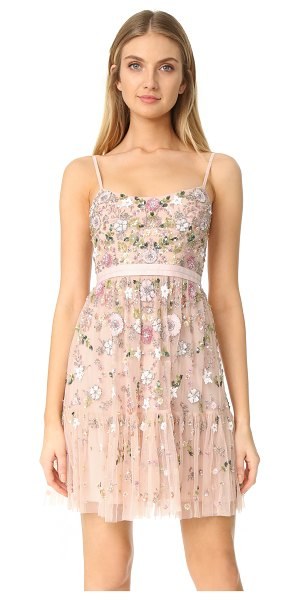 Needle & Thread blossom tulle dress in blossom pink - NOTE: Sizes listed are UK. A heavily beaded mesh Needle...