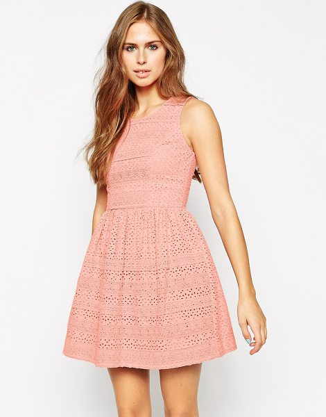 Needle & Thread Broderie lace dress in rose pink