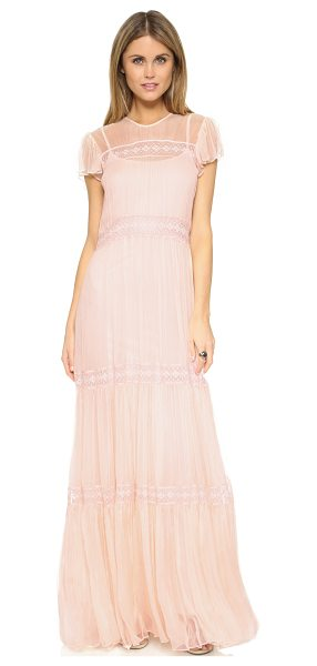 NEEDLE & THREAD Chiffon lace gown - Description NOTE: Sizes listed are UK. Please see Size &...