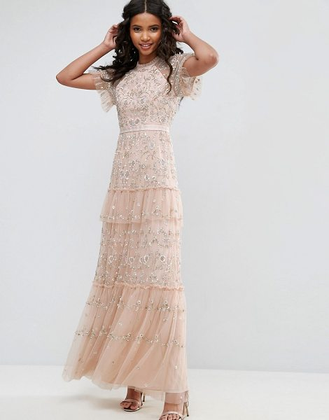 "NEEDLE & THREAD Constellation Lace Gown - """"Dress by Needle Thread, Smooth woven fabric, Bead and..."