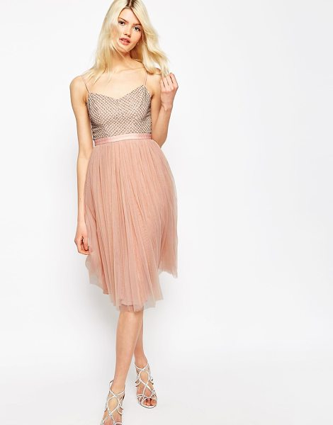 Needle & Thread Coppelia Embellished Ballet Tulle Dress in pink - Dress by Needle Thread, Embellished top, V-neckline,...