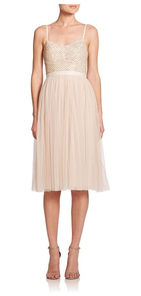 Needle & Thread Coppelia embellished tulle dress in pastelpink - A dreamy tulle skirt defines this ballerina-inspired...