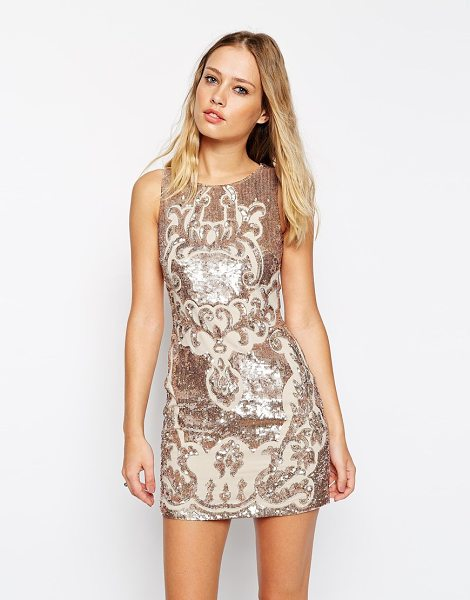 Needle & Thread Embellished motif cut out dress in rose bronze - Party dress by Needle & Thread Lightweight, woven fabric...