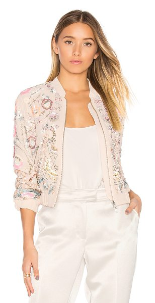 Needle & Thread Iridescent Cinder Bomber in pink - Shell & Lining: 100% poly. Dry clean only. Front zipper...