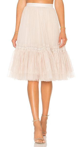 Needle & Thread Lace Tulle Skirt in blush - Self: 100% nylonContrast: 93% cotton 7% nylonLining:...