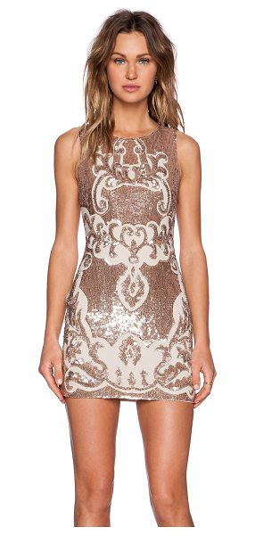 NEEDLE & THREAD Motif sequin dress in blush - Self & Lining: 100% poly. Dry clean only. Fully lined....