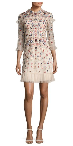 "NEEDLE & THREAD Posy Embroidered Tulle Dress - Needle & Thread ""Posy"" tulle dress with allover..."
