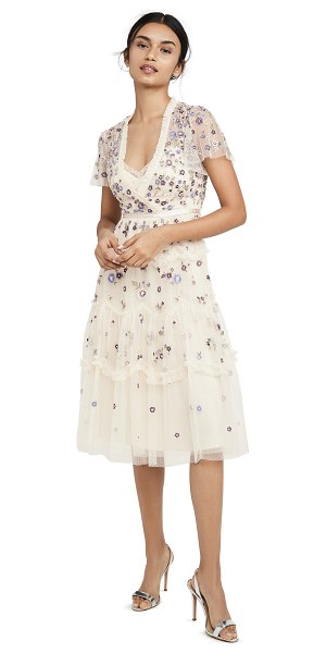 Needle & Thread prarie flora dress in champagne