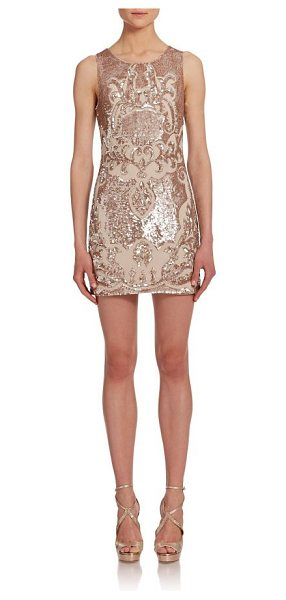 Needle & Thread Sequined mini dress in flurogold - Baroque-inspired motifs impart uptown polish to this...