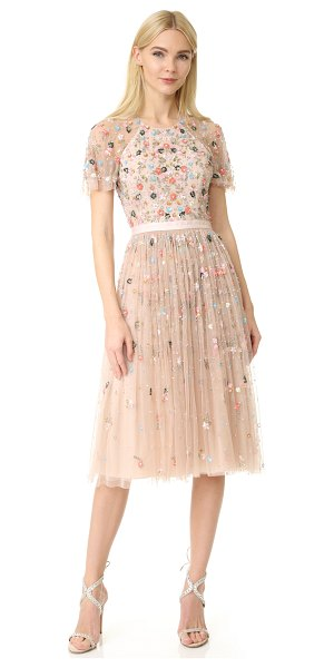 Needle & Thread starburst dress in petal pink - NOTE: Runs true to size. Please see Size & Fit tab. A...