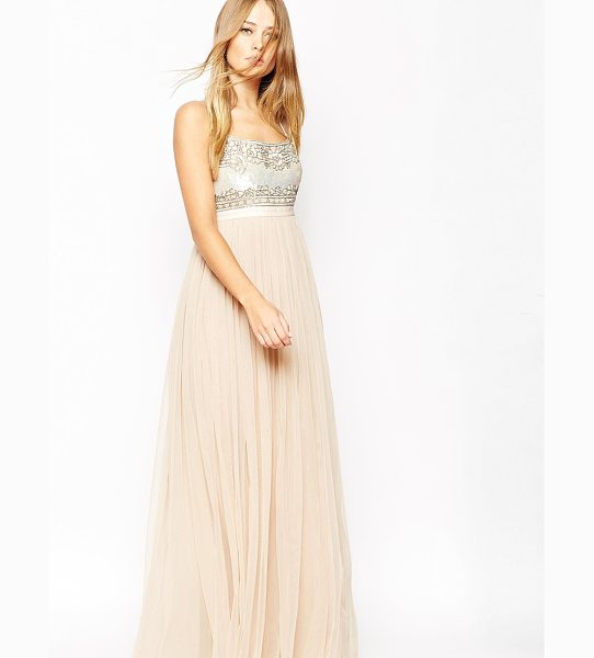 NEEDLE & THREAD Strappy Backless Tulle Embellished Maxi Dress - Maxi dress by Needle Thread, Heavily sequinned bodice,...