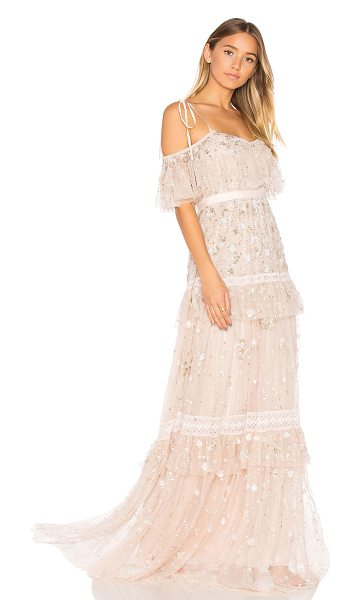 NEEDLE & THREAD Supernova Gown in pink - Shell: 100% nylonTrim: 97% cotton 3% nylonLining: 100%...