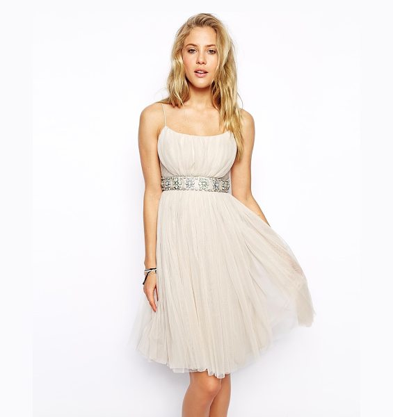 NEEDLE & THREAD Tulle ballet midi dress - Midi dress by Needle & Thread Made from a breathable...