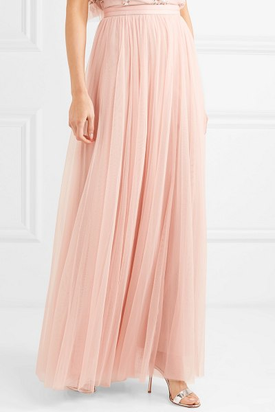 Needle & Thread tulle maxi skirt in blush - EXCLUSIVE AT NET-A-PORTER.COM. Needle & Thread's maxi...