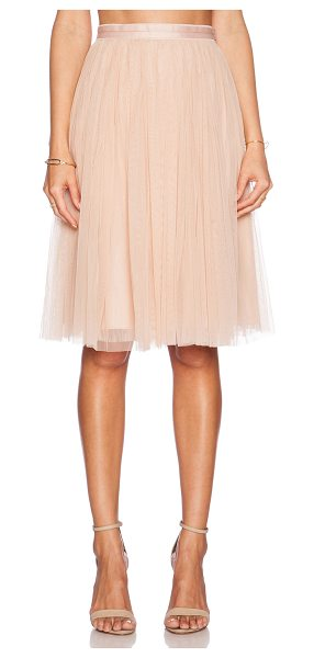 Needle & Thread Tulle midi skirt in peach - Self: 100% nylonLining: 100% poly. Dry clean only. Skirt...