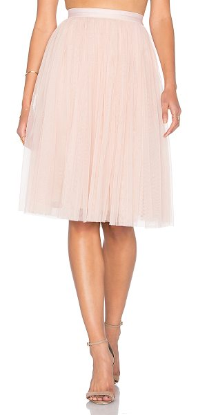 Needle & Thread Tulle Midi Skirt in blush - Self: 100% nylonLining: 100% poly. Hand wash cold. Fully...