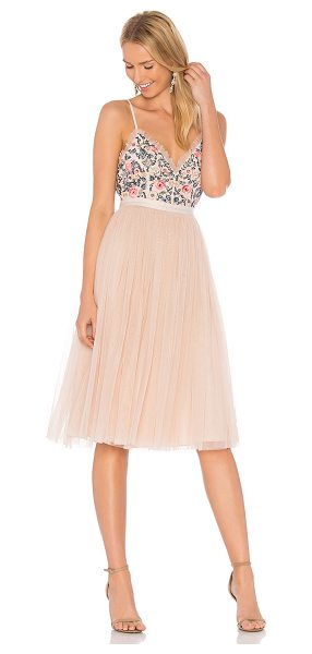 Needle & Thread Whisper Midi Dress in pink - Shell: 100% nylonLining & Trim: 100% poly. Dry clean...